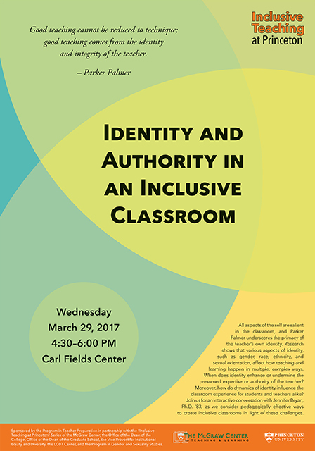 Identity and Authority in an Inclusive Classroom poster