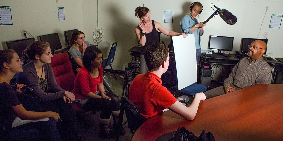Students filiming