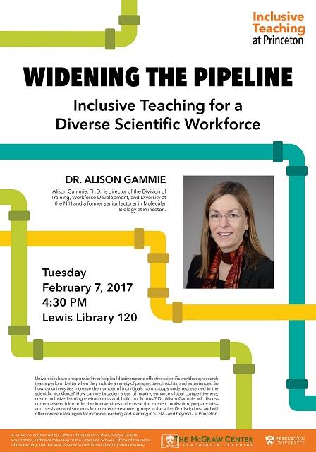 Widening the Pipeline, a talk with Alison Gammie PhD