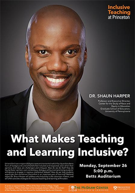 What Makes Teaching and Learning Inclusive poster