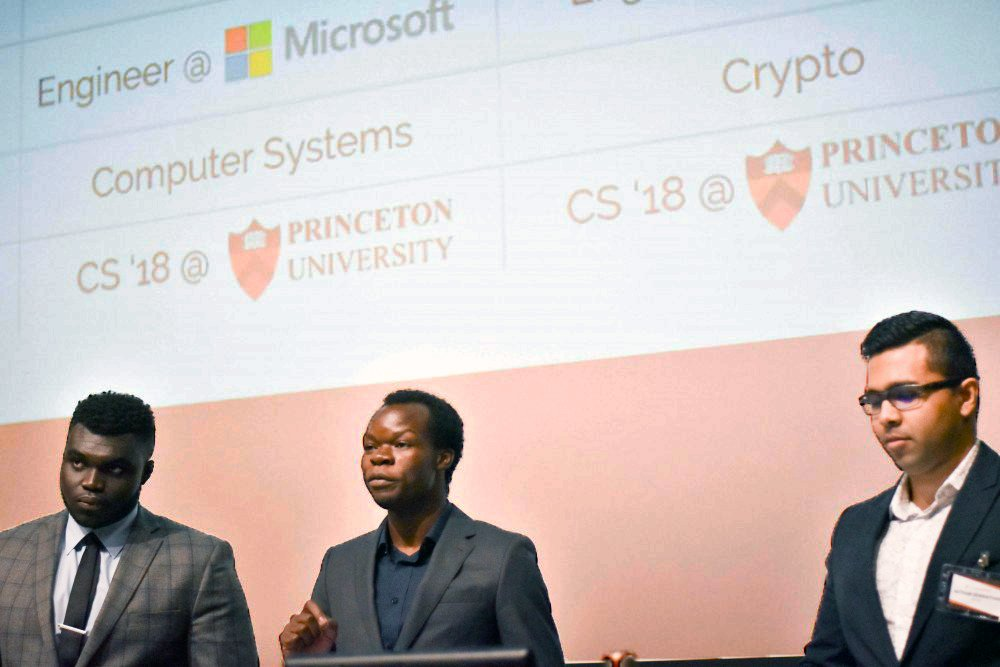The team of Felix Madutsa '18, Avthar Sewrathan '18, and Richard Adjei '18 are the founders of the company BlockX