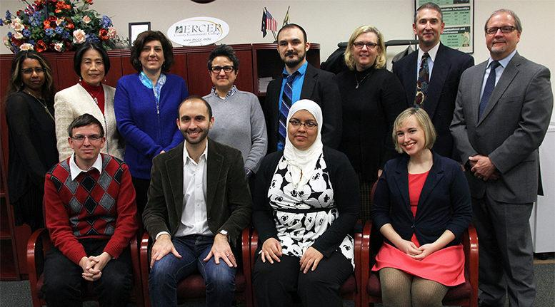 Princeton University doctoral students with officials from Princeton and Mercer County Community College. Photo: MCCC