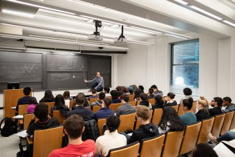 "Prof. Andrew Houck teaches introductory engineering course, ""The Mathematics of Shape and Motion."""