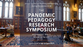 Pandemic Pedagogy Research Symposium banner