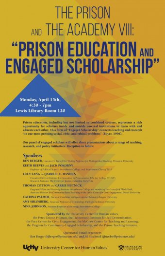 The Prison and The Academy VIII - Prison Education and Engaged Scholarship