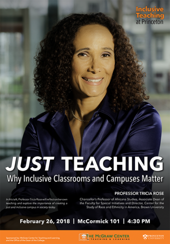 an inclusive teaching at Princeton event with Tricia Rose