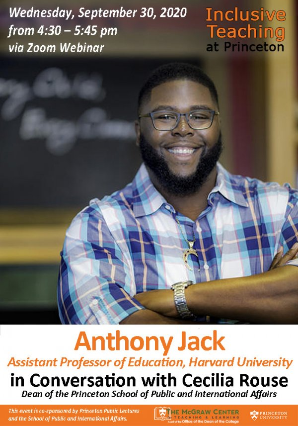 Anthony Jack, Assistant Professor of Education at Harvard University and author of The Privileged Poor