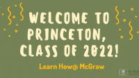 Welcome Class of 2022