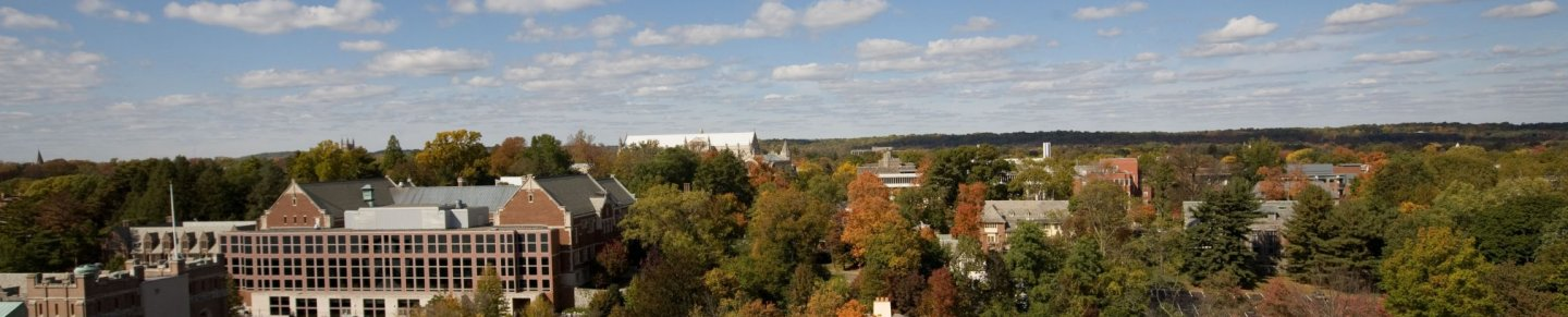 Aerial view of the Princeton campus
