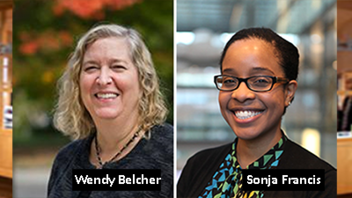 Wendy Belcher and Sonja Francis, 2018 Faculty Fellows at the McGraw Center